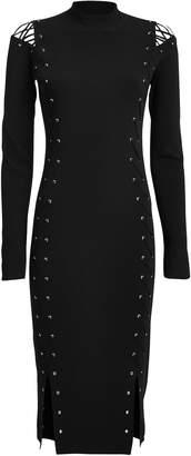 McQ Lace-Up Stretch Jersey Dress