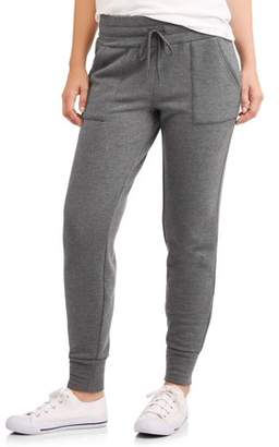 Athletic Works Women's Core Soft Fleece Jogger Pant with Front Pockets