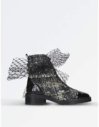 Kurt Geiger London Dream tweed ankle boots