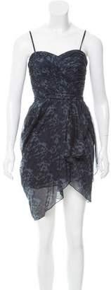 Rebecca Taylor Silk Leopard Print Dress