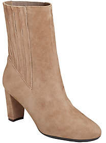 Aerosoles Mid Calf Leather Boots - Fifth Ave