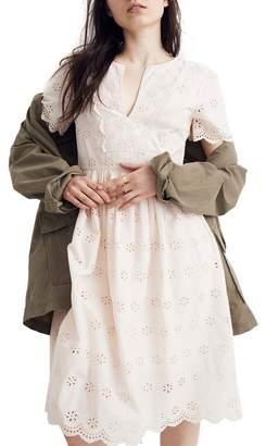 Madewell Scallop Eyelet Dress (Regular & Plus Size)