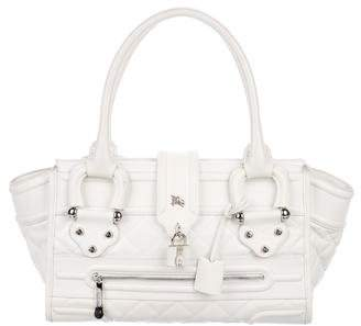 Burberry Quilted Leather Manor Tote
