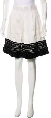 Robert Rodriguez Linen & Cashmere A-Line Skirt