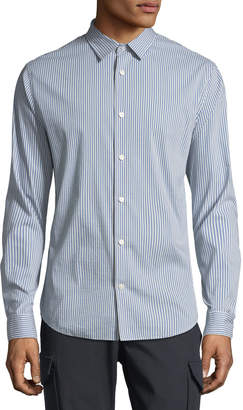 Vince Striped Long-Sleeve Sport Shirt