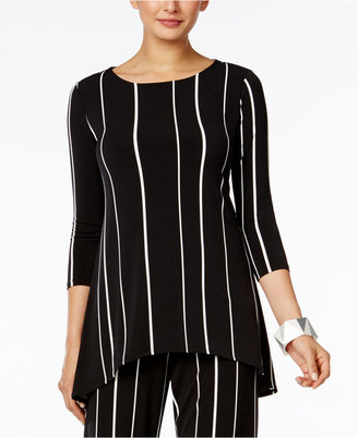 Alfani Striped High-Low Top, Only at Macy's $64.50 thestylecure.com