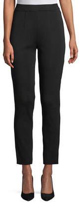 Misook Slim-Leg Pull-on Ankle Pants