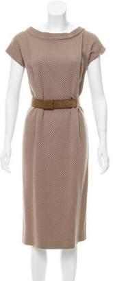 Agnona Wool-Blend Midi Dress