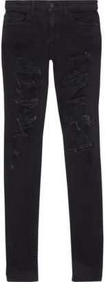 Alice + Olivia Alice+olivia Distressed Mid-Rise Skinny Jeans