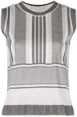 Pleats Please Issey Miyake striped sleeveless top