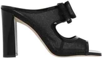Ballin Black Glitter Mesh Sandal 1199