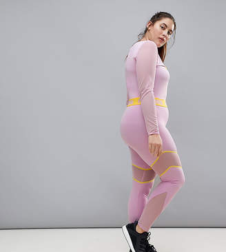 Puma Plus Exclusive To Asos Mesh Panel Legging In Lilac
