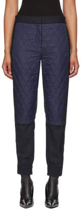 Tibi Navy and Black Quilted Combo Trousers