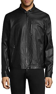 John Varvatos Men's Classic Slim-Fit Leather Jacket