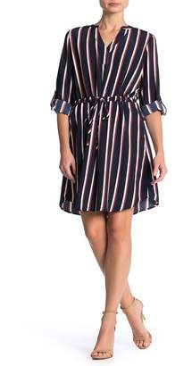 Como Vintage Long Sleeve Shirt Dress