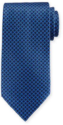 Stefano Ricci Circular Grid Silk Tie