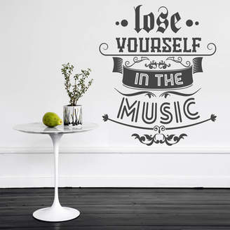 Wall Art 'Lose Yourself In The Music' Wall Sticker