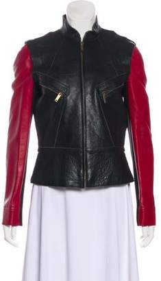 Derek Lam Wool-Accented Leather Jacket