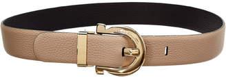 Salvatore Ferragamo Gancio Buckle Reversible Leather Belt