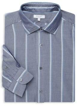 Boglioli Slim-Fit Wide Stripe Dress Shirt