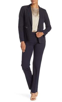 Lafayette 148 New York Straight Leg Front Zip Pants