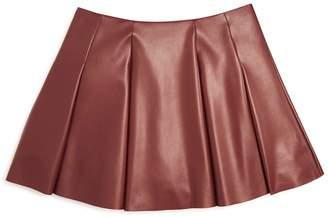 Aqua Girls' Faux Leather Mini Skirt, Big Kid - 100% Exclusive