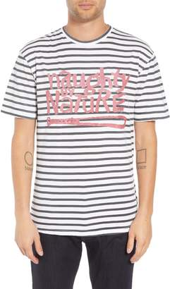Eleven Paris ELEVENPARIS Naughty by Nature Striped Graphic T-Shirt