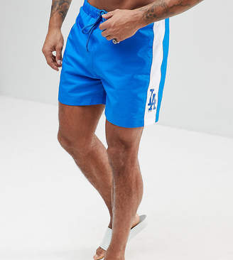 Majestic L.A Dodgers Swimshorts With Panel In Blue
