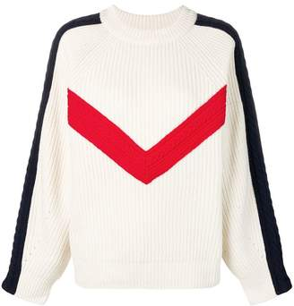 Sjyp chevron knitted sweater