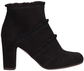 Chie Mihara Black Suede Ankle Boots