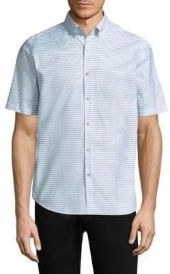 Vilebrequin Striped Cotton Button-Down Shirt
