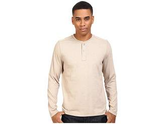 The North Face Long Sleeve Copperwood Henley (Dune Beige Heather