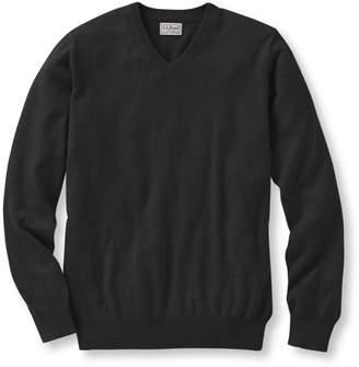 L.L. Bean L.L.Bean Men's Cotton/Cashmere Sweater, V-Neck