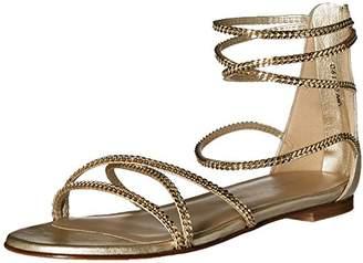 Stuart Weitzman Women's Chaindown Flat Sandal