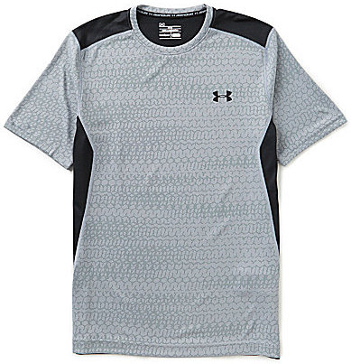 Under Armour Color Block Raid Jacquard Short-Sleeve Tee