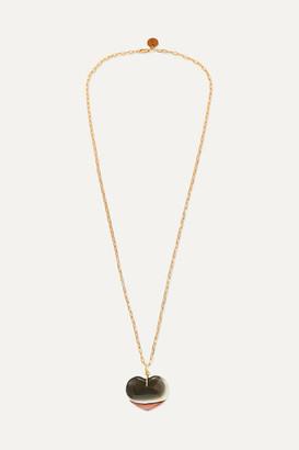 Sirconstance - Jasper Gold-plated Tourmaline Necklace - Black