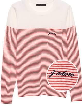 Banana Republic Petite J'adore Stripe Pocket Sweater