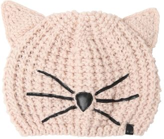 Choupette Beanie Hat With Patches $69 thestylecure.com