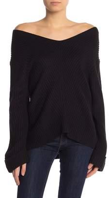 Cotton Emporium V-Neck Cuff Sweater
