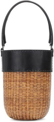 Kayu Lucie leather-trimmed bucket bag