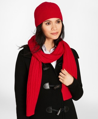 Brooks Brothers Cable-Knit Cashmere Scarf