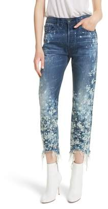 3x1 NYC W3 Higher Ground Bleached Ankle Slim Fit Jeans