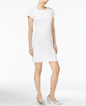 Maison Jules Scalloped Sheath Dress, Only at Macy's $89.50 thestylecure.com