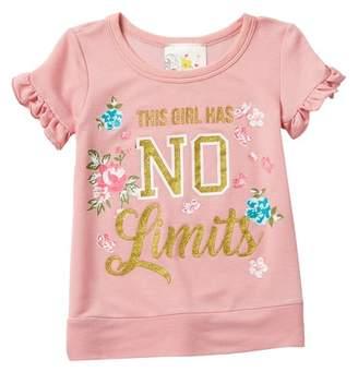 acac9d696372 Jenna   Jessie Ruffle Sleeve Screen Print Top (Little Girls)