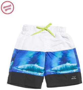 8975f788c4715 Little Boys Shark Swim Trunks