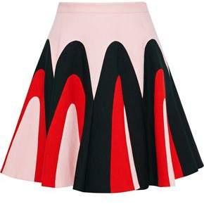 DELPOZO Printed Linen Mini Skirt