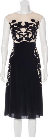 Bottega Veneta Bottega Veneta Silk-Trimmed Velvet Dress