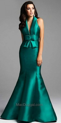 Mac Duggal Wide Pleated Bow Evening Dress $538 thestylecure.com