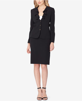Tahari ASL Ruffled Skirt Suit $280 thestylecure.com