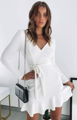 Beginning Boutique Ada Long Sleeve Dress Ivory